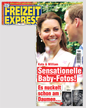 Kate & William - Sensationelle Baby-Fotos! Es nuckelt schon am Daumen...