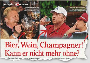 Bier, Wein, Champagner! Kann er nicht mehr ohne?