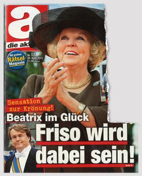 Sensation zur Krönung! Beatrix im Glück - Friso wird dabei sein!