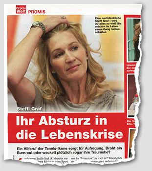 Steffi Graf - Ihr Absturz in dei Lebenskrise