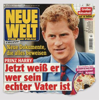 Exklusiv! Neue Dokumente, die alles beweisen - Prinz Harry - Jetzt weiß er wer sein echter Vater ist