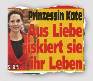 Prinzessin Kate - Aus Liebe riskiert sie ihr Leben