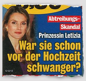 Abtreibungs-Skandal - Prinzessin Letizia - War sie schon vor der Hochzeit schwanger?