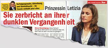 Prinzessin Letizia - Sie zerbricht an ihrer dunklen Vergangenheit
