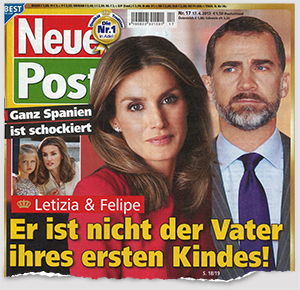 Ganz Spanien ist schockiert - Letizia & Felipe - Er ist nicht der Vater ihres ersten Kindes!