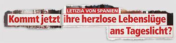 LETIZIA VON SPANIEN - Kommt jetzt ihre herzlose Lebenslüge ans Tageslicht?