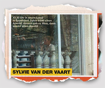 13.30 Uhr in einem Lokal in Eppendorf: Sylvie trinkt einen Aperitif, danach gab es Wein, dann wieder einen Aperitif ...
