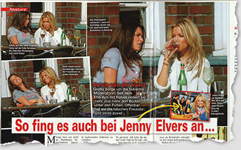 So fing es auch bei Jenny Elvers an ...