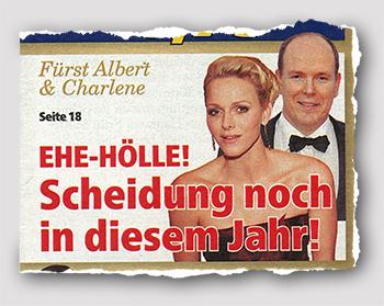Fürst Albert & Charlene - EHE-HÖLLE! Scheidung noch in diesem Jahr!