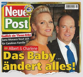 Endlich ein Thron-Erbe - Ganz Monaco freut sich für Carolines Familie - Albert & Charlene: Das Baby ändert alles!