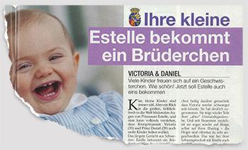 Ihre kleine Estelle bekommt ein Brüderchen - Victoria & Daniel