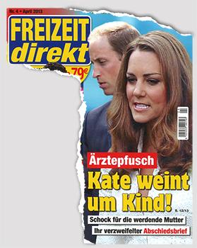 Ärztepfusch - Kate weint um Kind! Schock für die werdende Mutter - Ihr verzweifelter Abschiedsbrief