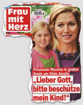 """Prinzessin Maxima in großer Sorge um Klein Amalia - """"Lieber Gott, bitte beschütze mein Kind!"""""""