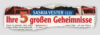 Saskia Vester (53) - Ihre 5 großen Geheimnisse