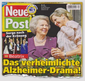 Sorge nach der Krönung - Beatrix - Das verheimlichte Alzheimer-Drama!