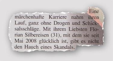 Eine märchenhafte Karriere nahm ihren Lauf, ganz ohne Drogen und Schicksalsschläge. Mit ihrem Liebsten Florian Silbereisen (31), mit dem sie seit Mai 2008 glücklich ist, gibt es nicht den Hauch eines Skandals.