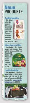 Neue Produkte - Traditionsgebäck - Käse-Snack mit Dip - Leichte Isolierbox