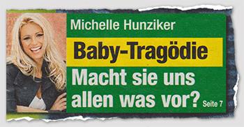 Michelle Hunziker - Baby-Tragödie - Macht sie uns allen was vor?