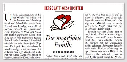 Herzblatt-Geschichten - Die mopsfidele Familie - Von Jörg Thomann