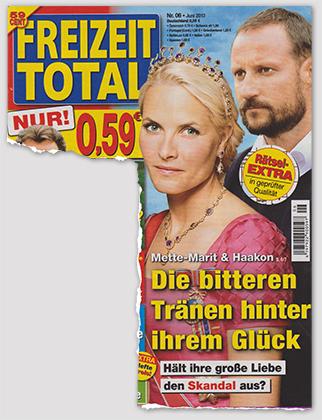 [Titelblatt:] Mette-Marit & Haakon - Die bitteren Tränen hinter ihrem Glück - Hält ihre große Liebe den Skandal aus?