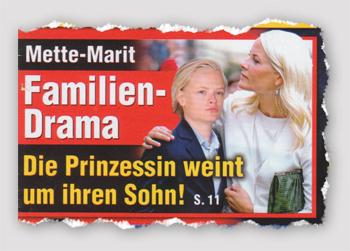 Mette-Marit - Familien-Drama - Die Prinzessin weint um ihren Sohn!