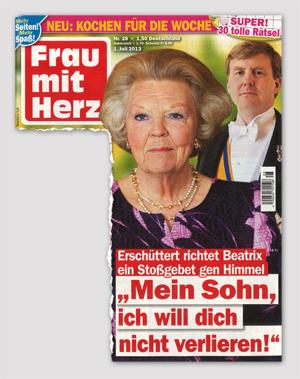 """Erschüttert richtet Beatrix ein Stoßgebet gen Himmel - """"Mein Sohn, ich will dich nicht verlieren!"""""""