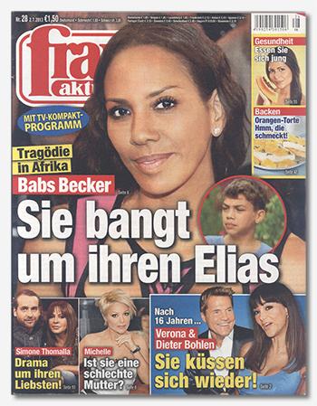 """Cover der """"frau aktuell"""", Nr. 28/2013"""