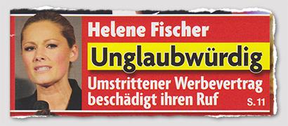 Helene Fischer - Unglaubwürdig - Umstrittener Werbevertrag beschädigt ihren Ruf
