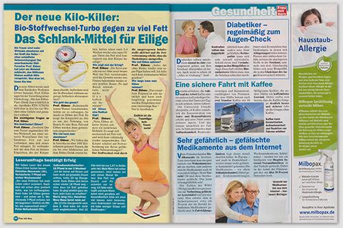 Der neue Kilo-Killer: Bio-Stoffwechsel-Turbo gegen zu viel Fett - Das Schlank-Mittel für Eilige