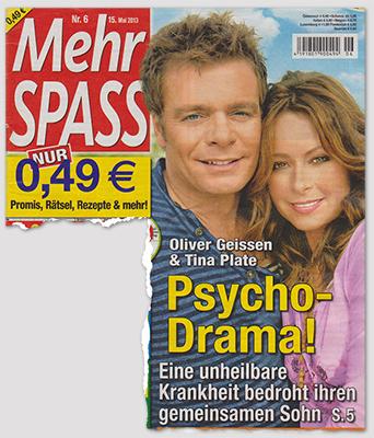 Oliver Geissen & Tina Plate - Psycho-Drama! - Eine unheilbare Krankheit bedroht ihren gemeinsamen Sohn