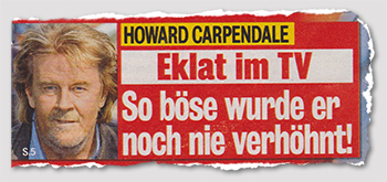 Howard Carpendale - Eklat im TV - So böse wurde er noch nie verhöhnt!