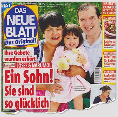 """Ihre Gebete wurden erhört - [Logo von """"Bauer sucht Frau""""] Josef & Narumol - Ein Sohn! - Sie sind so glücklich"""