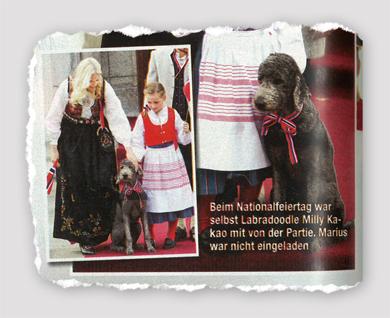 Beim Nationalfeiertag war selbst Labradordoodle Milly Kakao mit von der Partie. Marius war nicht eingeladen