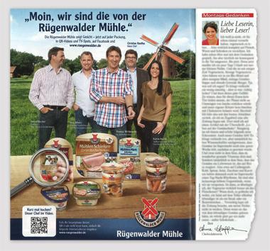 Werbeanzeige Rügenwalder Mühle