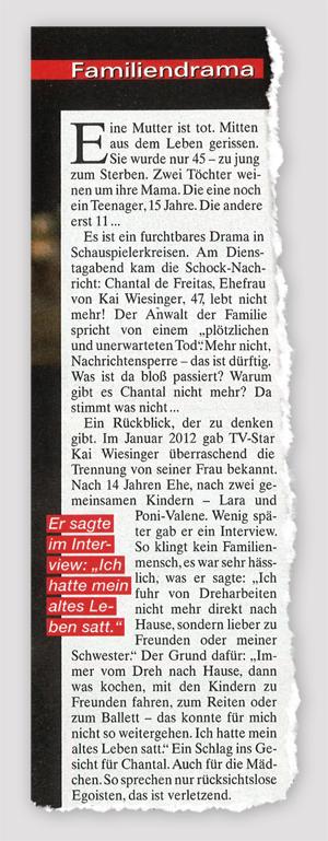 Kai Wiesinger: Familiendrama