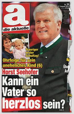 Trauriger erster Schultag! - Ohrfeige für sein uneheliches Kind (6) - Horst Seehofer - Kann ein Vater so herzlos sein?