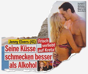 Jenny Elvers (41) - Frisch verliebt auf Kreta - Seine Küsse schmecken besser als Alkohol