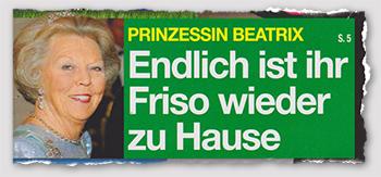 Prinzessin Beatrix - Endlich ist ihr Friso wieder zu Hause