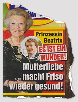 Prinzessin Beatrix - Es ist ein Wunder! - Mutterliebe macht Friso wieder gesund!