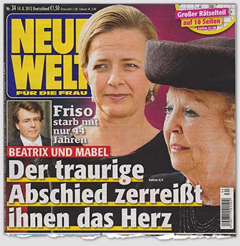"""Ausriss: """"Neue Welt für die Frau"""" - Friso starb mit nur 44 Jahren - Beatrix und Mabel - Der traurige Abschied zerreißt ihnen das Herz"""