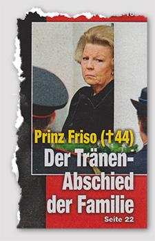 Prinz Friso (†44) - Der Tränen-Abschied der Familie