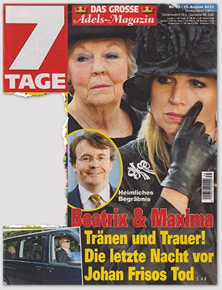 Heimliches Begräbnis - Beatrix & Maxima - Tränen und Trauer! Die letzte Nacht vor Johan Frisos Tod
