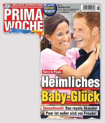 Harry & Pippa - Heimliches Baby-Glück - Sensationell: Das royale Skandal-Paar ist außer sich vor Freude!