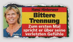 Hansi Hinterseer - Bittere Trennung - Zum ersten Mal spricht er über seine verletzten Gefühle