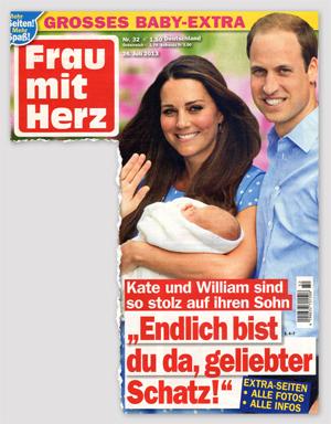 """Kate und William sind so stolz auf ihren Sohn - """"Endlich bist du da, geliebter Schatz!"""""""