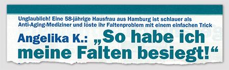 """Unglaublich! Eine 58-jährige Hausfrau aus Hamburg ist schlauer als Anti-Aging-Mediziner und löste ihr Faltenproblem mit einem einfachen Trick - Angelika K.: """"So habe ich meine Falten besiegt!"""""""