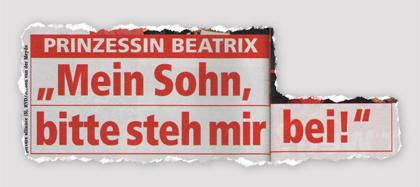 """Prinzessin Beatrix - """"Mein Sohn, bitte steh mir bei!"""""""