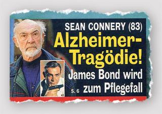 Sean Connery (83) - Alzheimer-Tragödie! James Bond wird zum Pflegefall