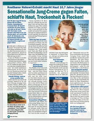 "Ausriss: ""Frau mit Herz"", Nr. 35/2013"