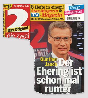 Günther Jauch - Der Ehering ist schon mal runter
